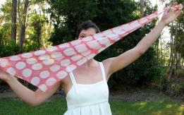 Silk georgette hand-dyed scarf