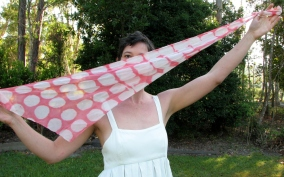 Silk georgette hand-dyed scarf